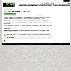 TÉLUQ - Test d'autoévaluation en français écrit – SEL