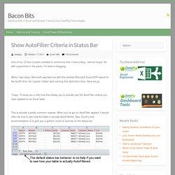 Show AutoFilter Criteria in Status Bar