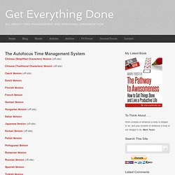 Autofocus System (Get Everything Done)