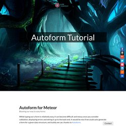 Autoform Tutorial