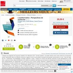 L'autoformation - Perspectives de recherche. Philippe Carré, André Moisan - Decitre - 9782130586906