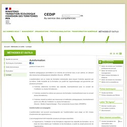 Autoformation - CEDIP
