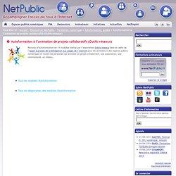 Autoformation à l'animation de projets collaboratifs (Outils-réseaux)