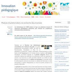 Modules d'autoformation à la recherche documentaire - Innovation Pédagogique
