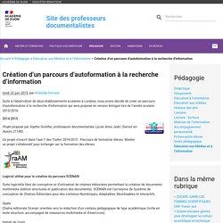 Création d'un parcours d'autoformation à la recherche d'information