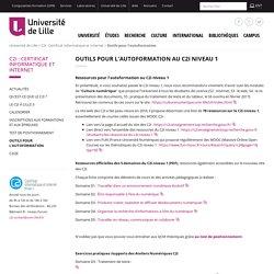 Outils pour l'autoformation - C2i : Certificat Informatique et Internet - Université de Lille