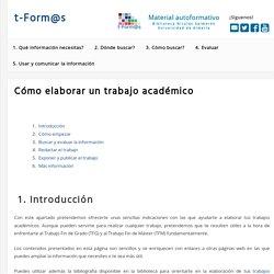 t-Form@s: Elaborar un trabajo academico (Universidad de Almería)