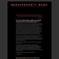 Une voie alternative viable: les AMAP en précurseur autogestionnaire ?
