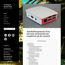 Autohébergement d'un serveur nextcloud sur raspberry pi de scratch – Le blog de Benoit Puel