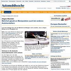 Abgas-Skandal: Mehrheit glaubt an Manipulation auch bei anderen Autoherstellern - Automobilwoche.de - das Bookmark der Autobranche