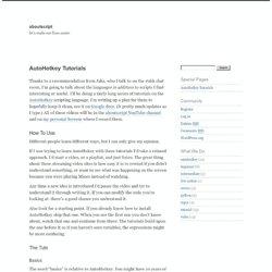 AutoHotkey Tutorials — aboutscript