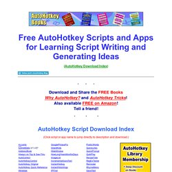 Free AutoHotkey Scripts and Apps for Learning