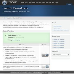 AutoIt v3 - Downloads