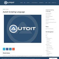 AutoIt Scripting Language - AutoIt