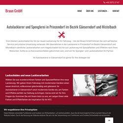 Autolackierer und Spenglerei in Prinzendorf im Bezirk Gänserndorf und Mistelbach
