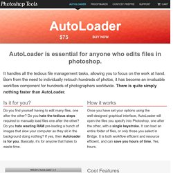 AutoLoader - MikeD's Photoshop Tools