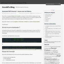 Autoloader PHP Universel – Jouons avec les Patterns