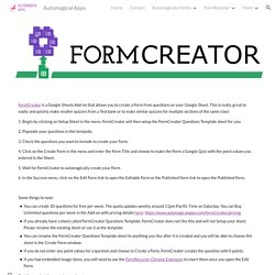 Automagical Apps - FormCreator