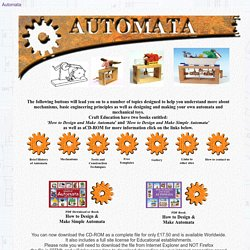How to design automata and mechanical toys