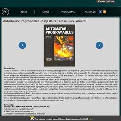 Autómatas Programables Josep Balcells Jose Luis Romeral