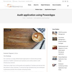 Audit application using PowerApps