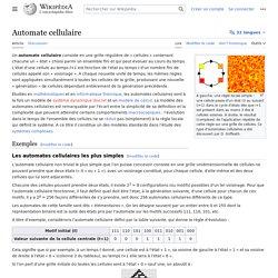 Automate cellulaire