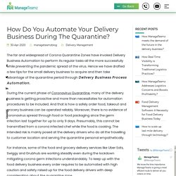 How Do You Automate Your Delivery Business During The Quarantine?
