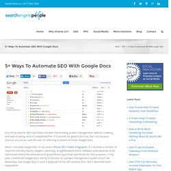 5+ Ways To Automate SEO With Google Docs