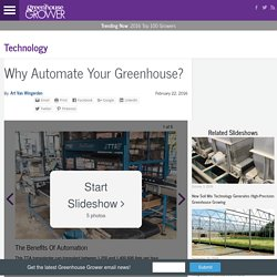 Why Automate Your Greenhouse?