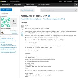 AUTOMATE IE FROM VBA
