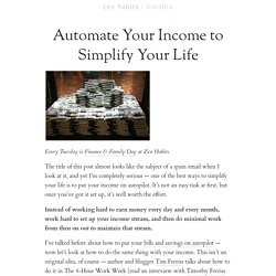 Automate Your Income to Simplify Your Life