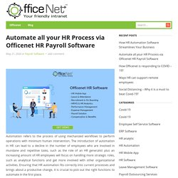 Automate all your HR Process via HR Payroll Software
