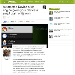 Automated Device rules engine gives your device a small brain of its own