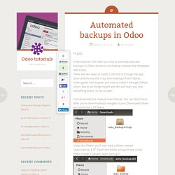 Automated backups in Odoo - Odoo tutorials