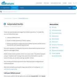 Automated builds : Tutum