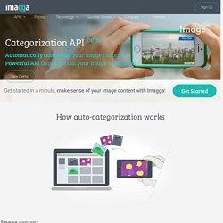 Automated image categorization API based on machine learning