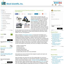 Automated Chemistry Analyzers - Accurate and Cost-effective