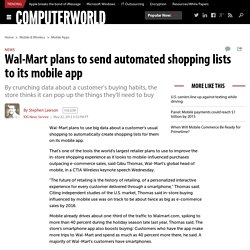 Wal-Mart plans to send automated shopping lists to its mobile app