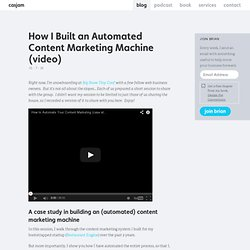 How I Built an Automated Content Marketing Machine (video)