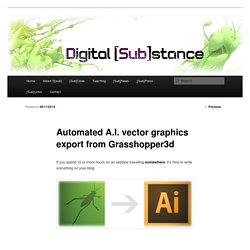 Automated A.I. vector graphics export from Grasshopper3d