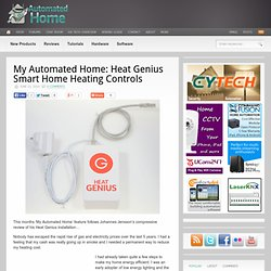 My Automated Home: Heat Genius Smart Home Heating Controls