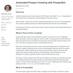 Automated Prosper Investing with ProsperBot - mtlynch.io