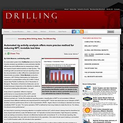 Automated rig activity analysis offers more precise method for reducing NPT, invisible lost time