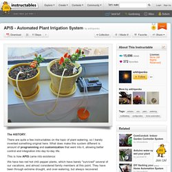APIS - Automated Plant Irrigation System