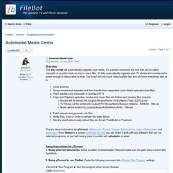 Automated Media Center - FileBot