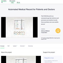 Automated Medical Record for Patients and Doctors by Zobreus Medical Corporation