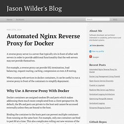 Automated Nginx Reverse Proxy for Docker ·