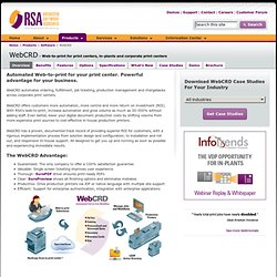 The Best Web-to-Print Center job submission solution from Rochester Software Associates, Inc.