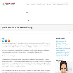 Automated and Manual Essay Scoring