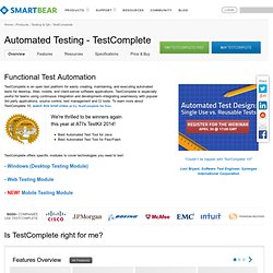 Automated Testing Tools - TestComplete